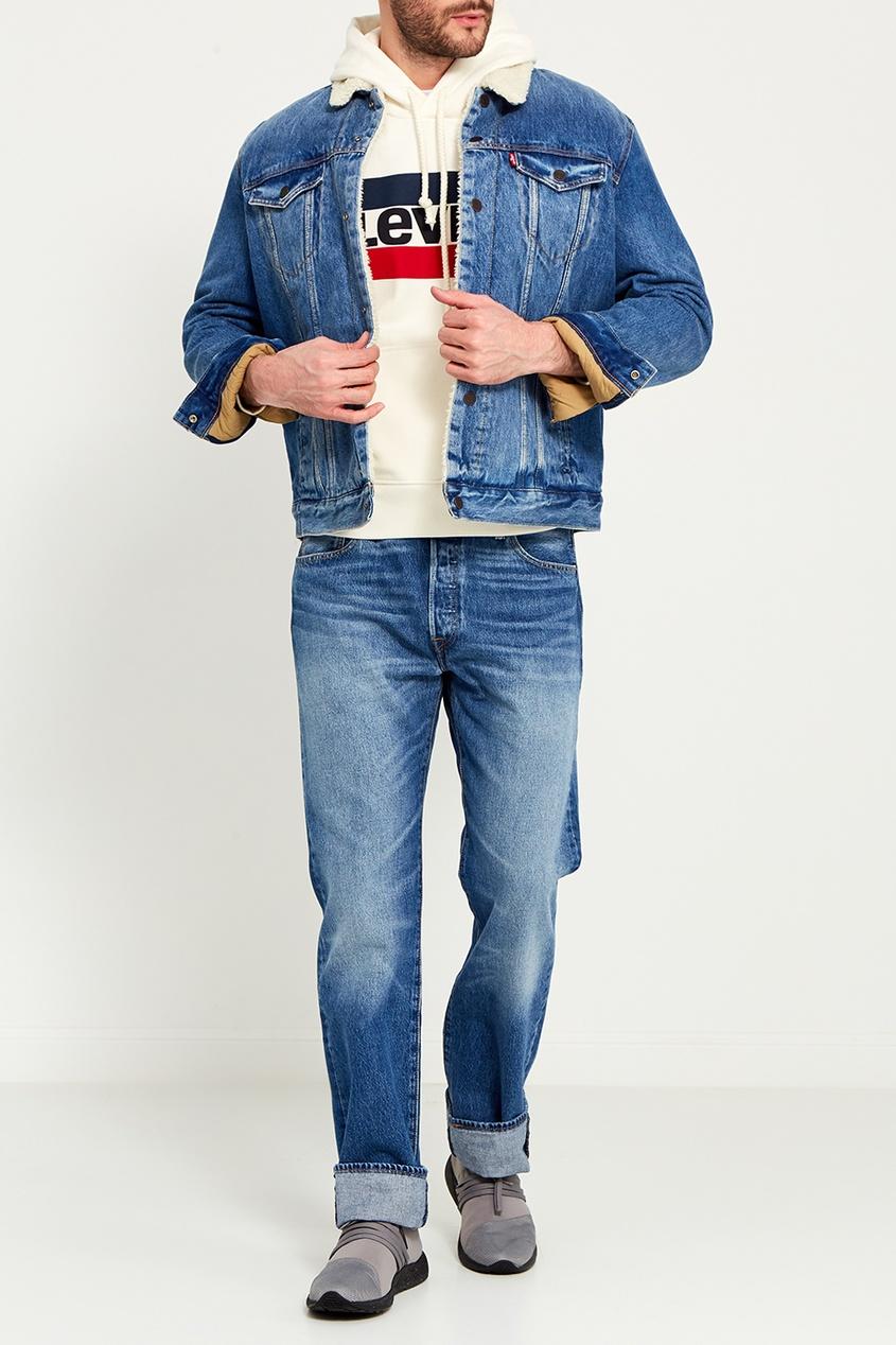 Levi's® Куртка из денима на меховой подкладке TYPE 3 SHERPA TRUCKER парка levi's® 2767300010