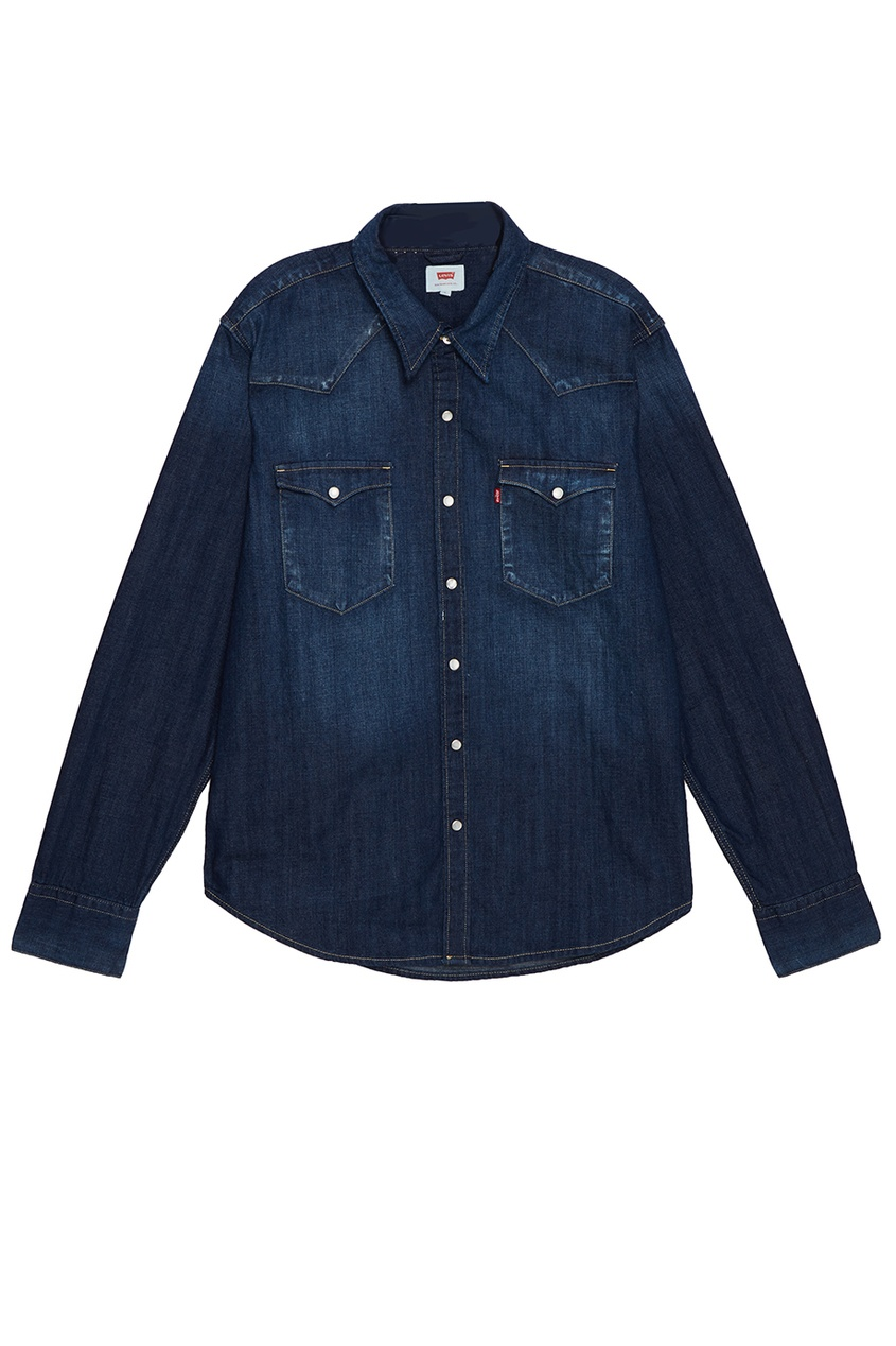 Levi's® Синяя джинсовая рубашка