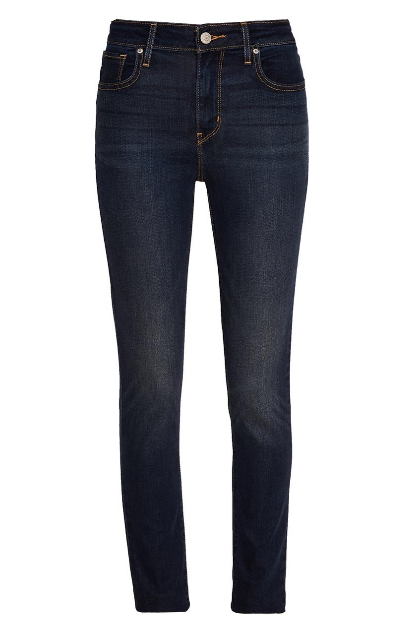 Темно-синий узкие джинсы 701 HIGH RISE SKINNY JEANS
