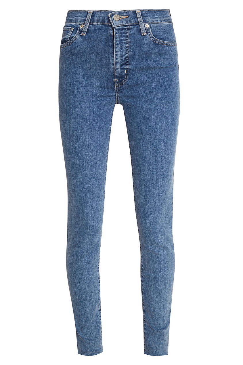 Голубые выбеленные джинсы-скинни Mile High Super Skinny