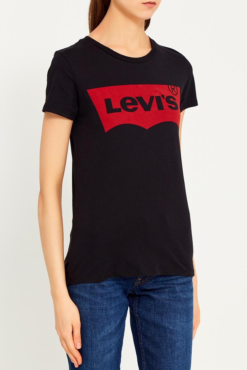 Levi`s Черная футболка с логотипом THE PERFECT TEE