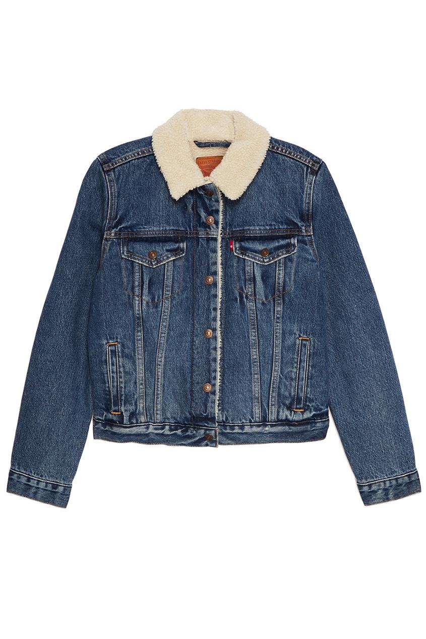 Levi's® Джинсовая куртка с меховой подкладкой ORIGINAL SHERPA TRUCKER парка levi's® 2767300010