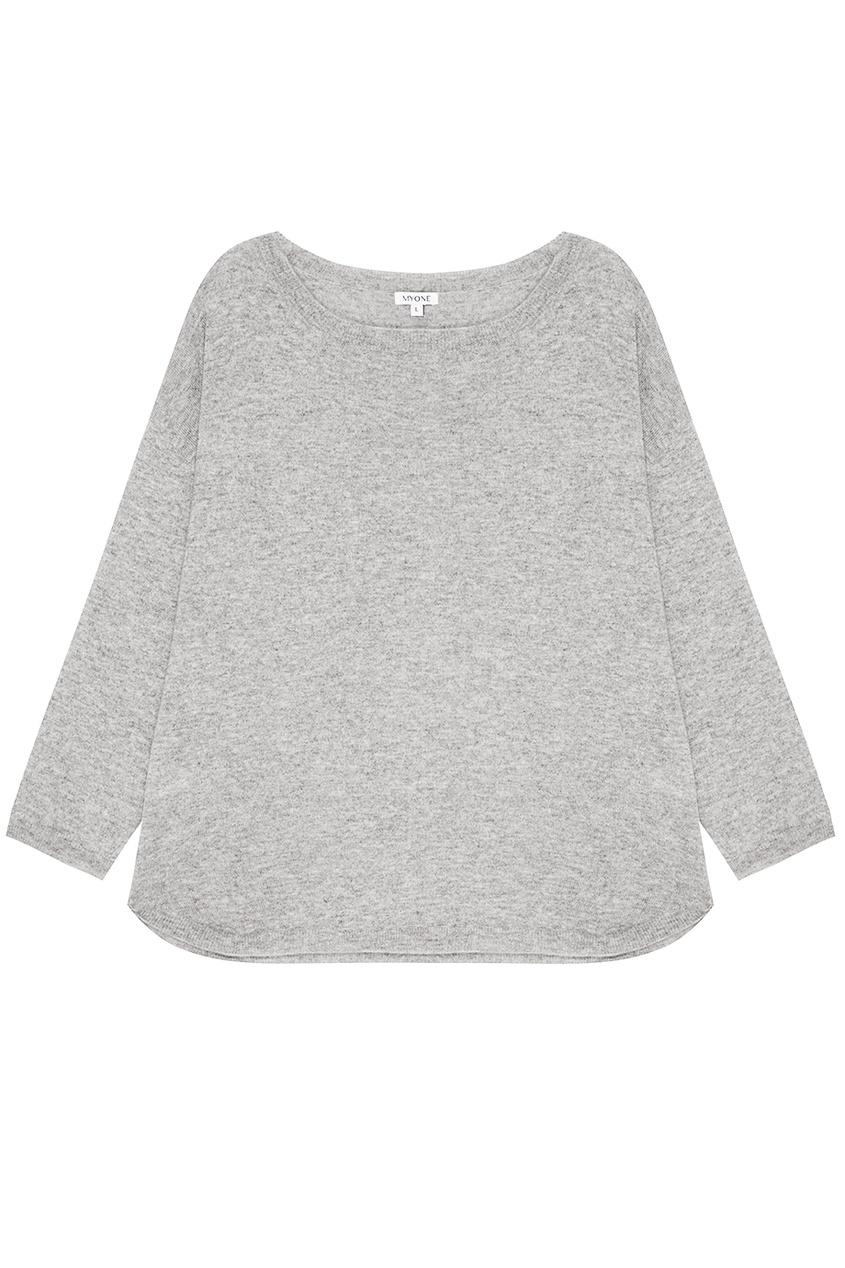 MYONE Серый меланжевый костюм myone пуловер из шелка и хлопка