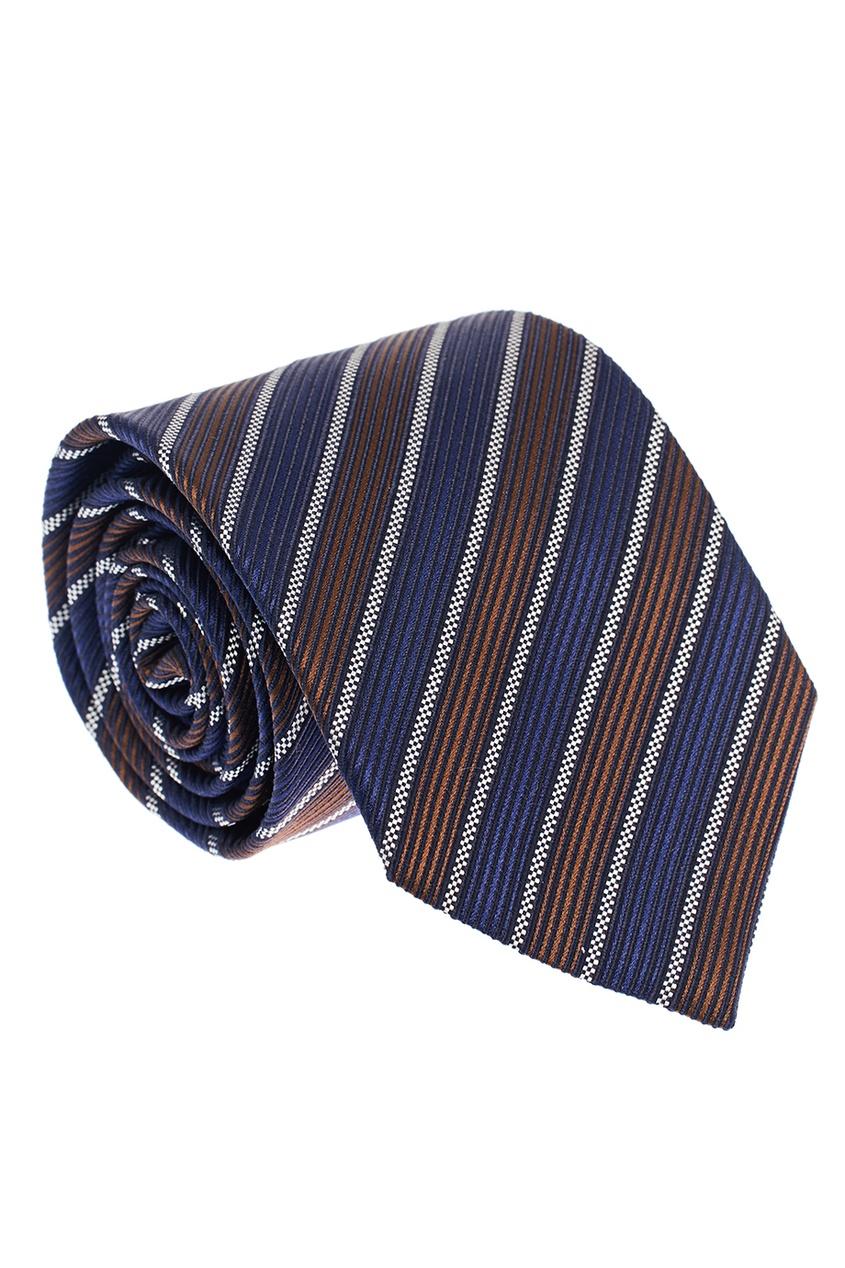 ERMENEGILDO ZEGNA Шелковый галстук с комбинированными полосками ремень ermenegildo zegna