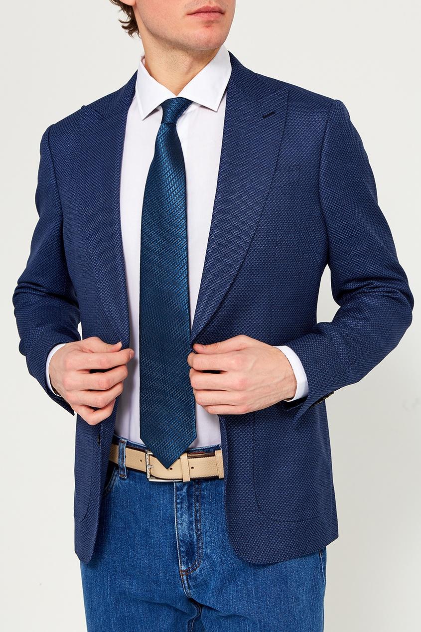 мужские галстуки и бабочки ermenegildo zegna, голубые