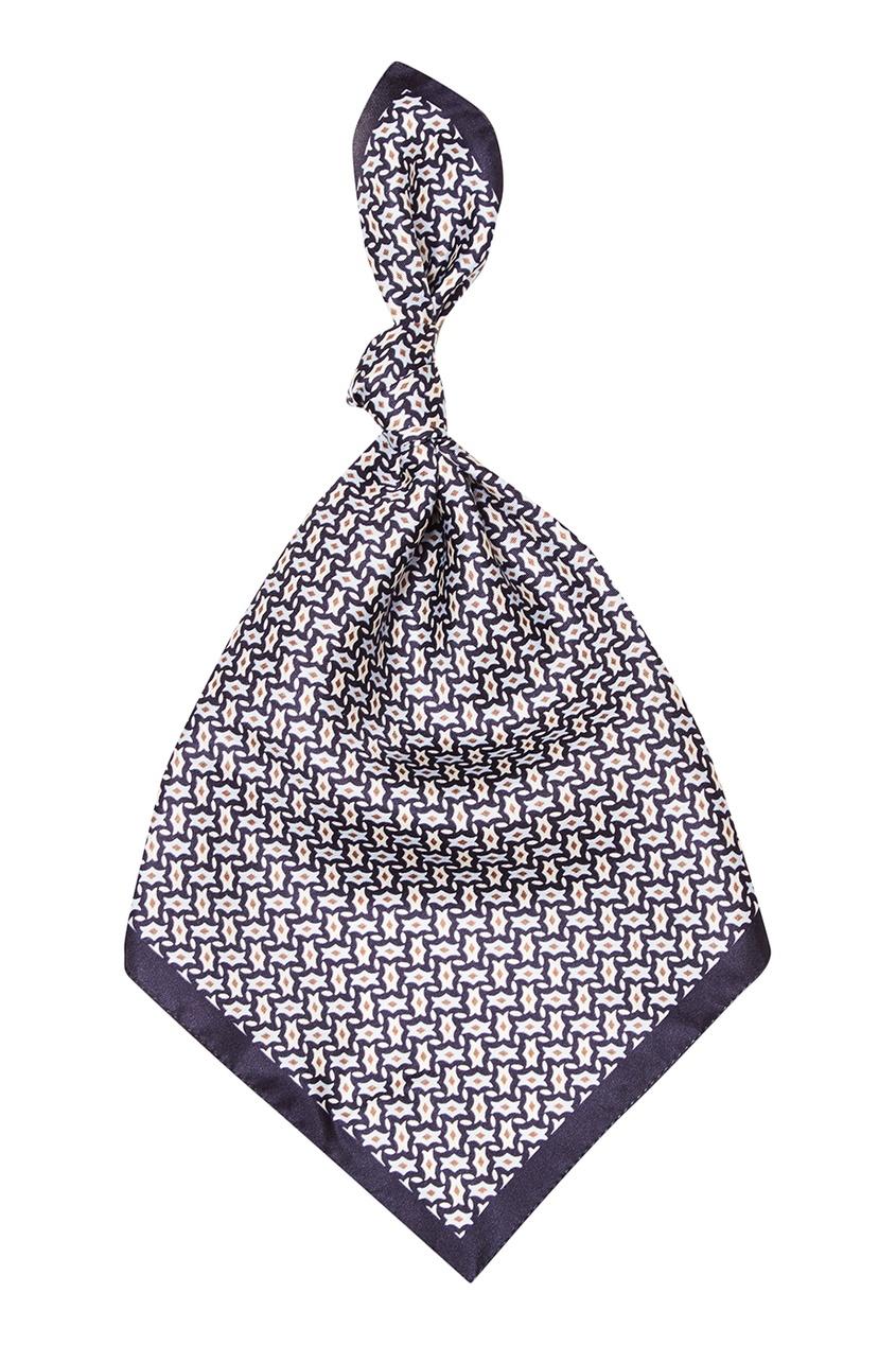Z Zegna Шелковый платок с орнаментом купить шелковый халат мужской спб