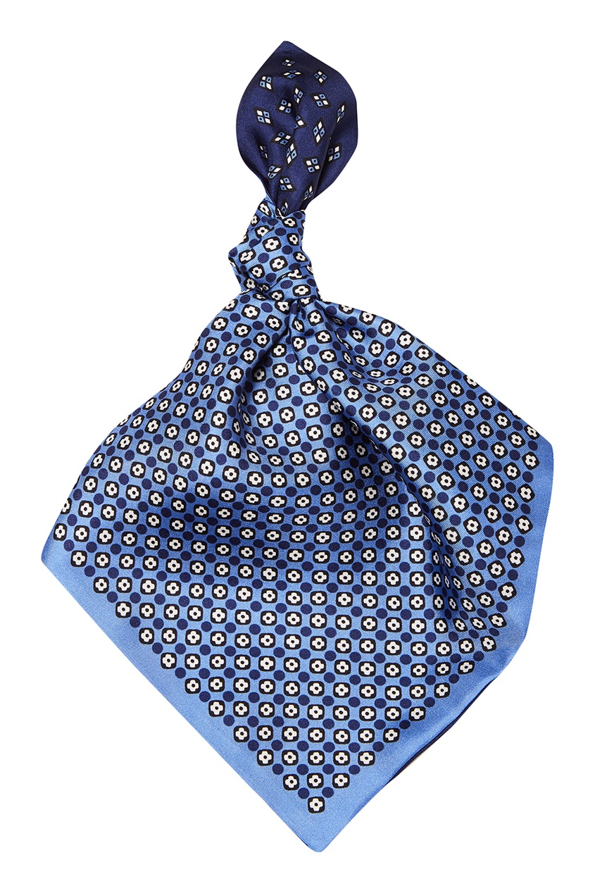 Синий шелковый платок