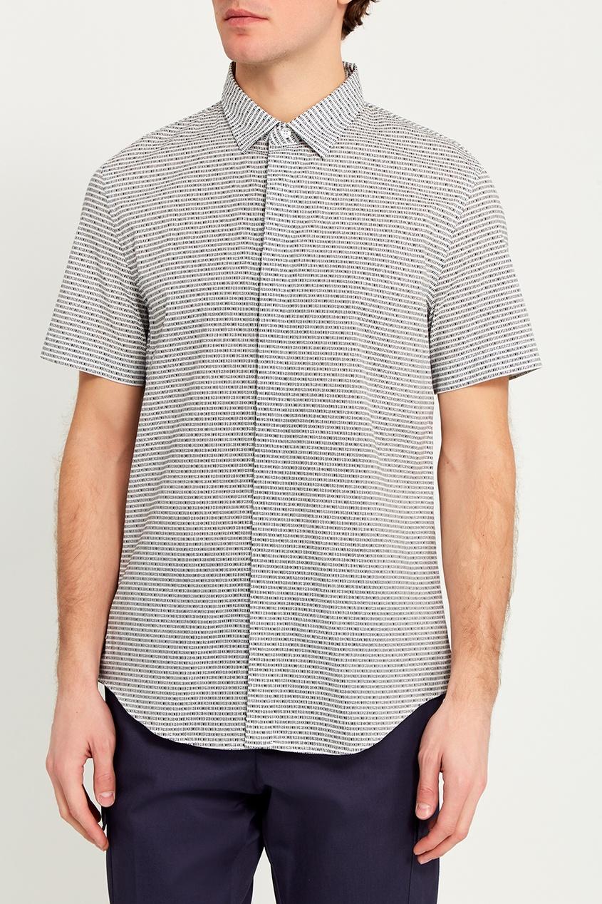 Dirk Bikkembergs Хлопковая рубашка с короткими рукавами рубашка quelle bruno banani 687269