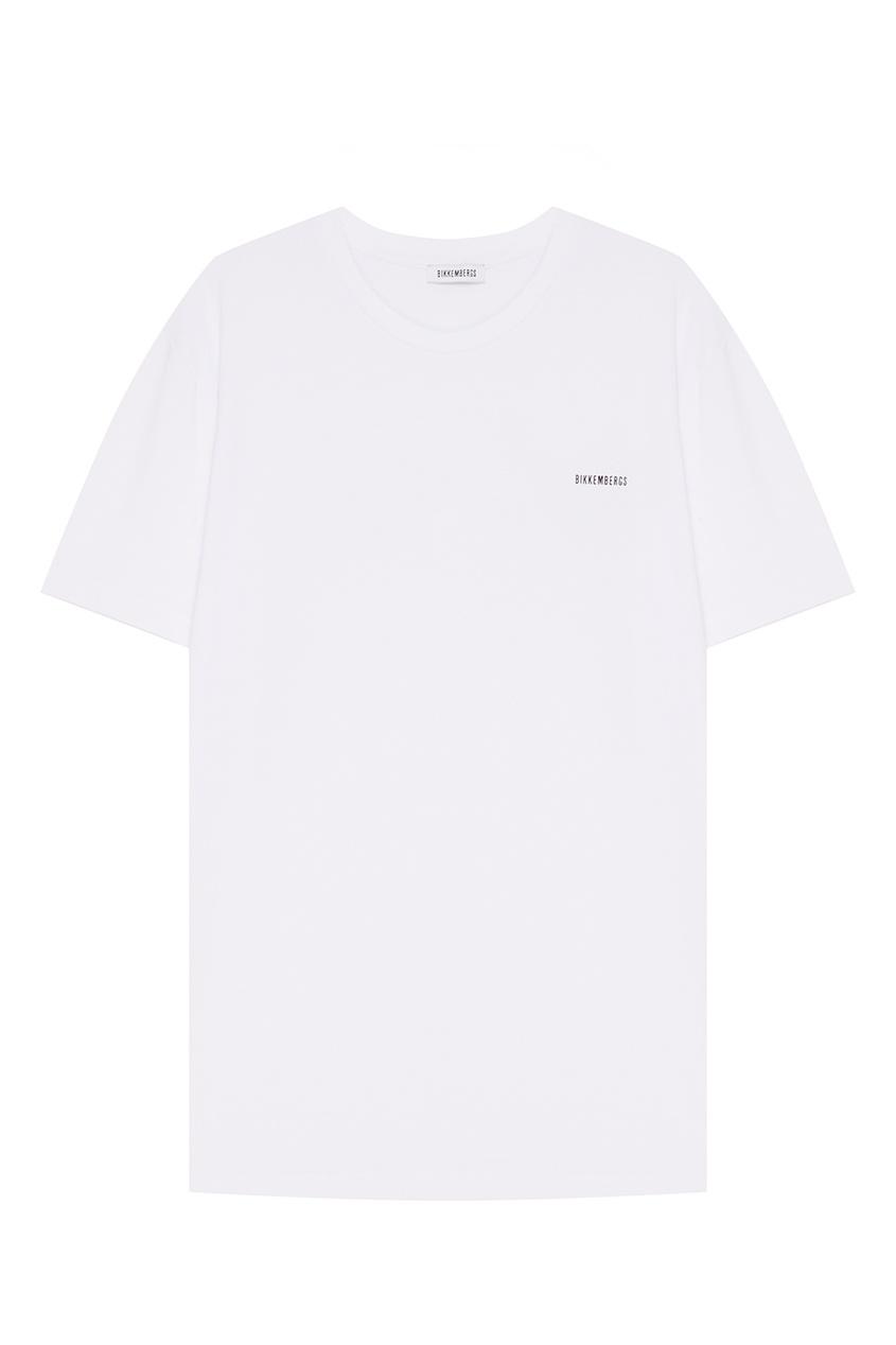 Dirk Bikkembergs Белая футболка с логотипом футболка dirk bikkembergs футболка