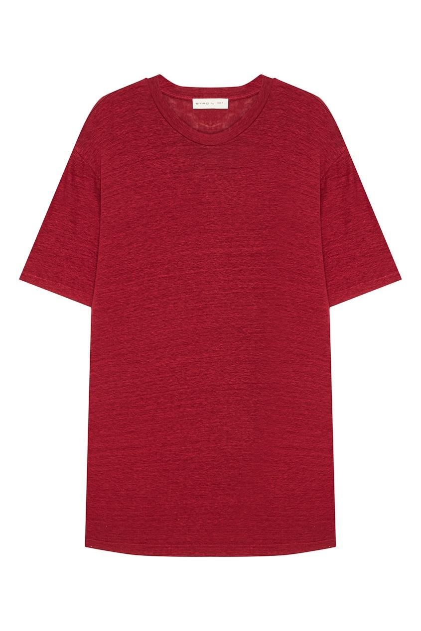 Etro Красная льняная футболка etro футболка с контрастной вышивкой