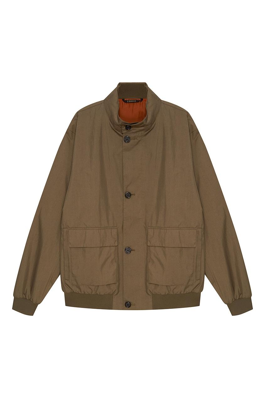 Z Zegna Хлопковая куртка с карманами куртка утепленная z design z design zd002ewwzj31