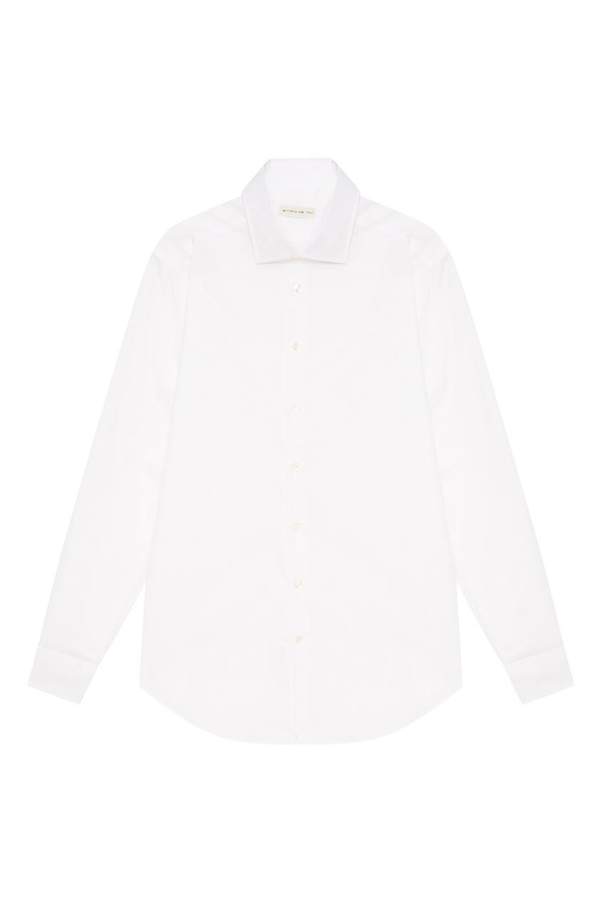 Etro Хлопковая сорочка белого цвета