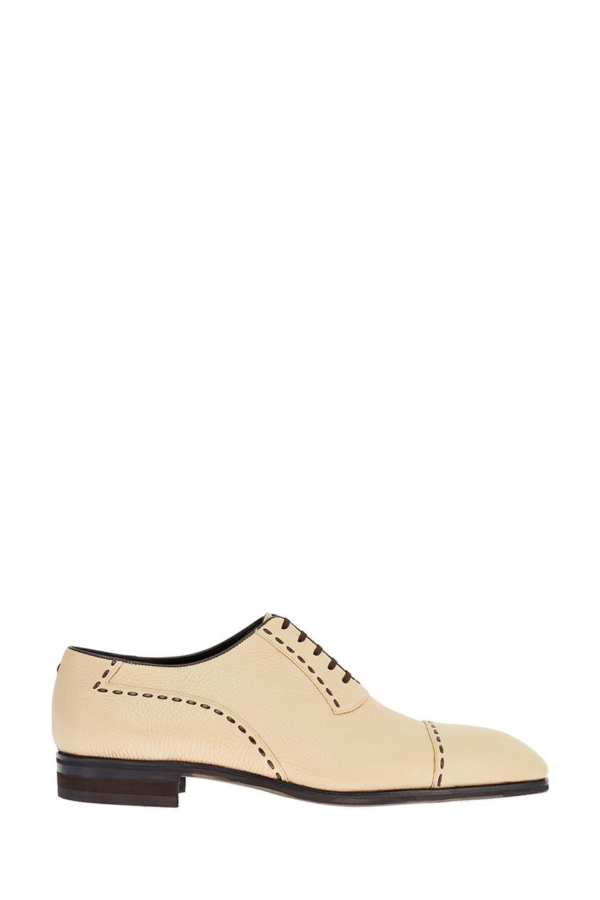 Бежевые туфли из текстурированной кожи Artioli