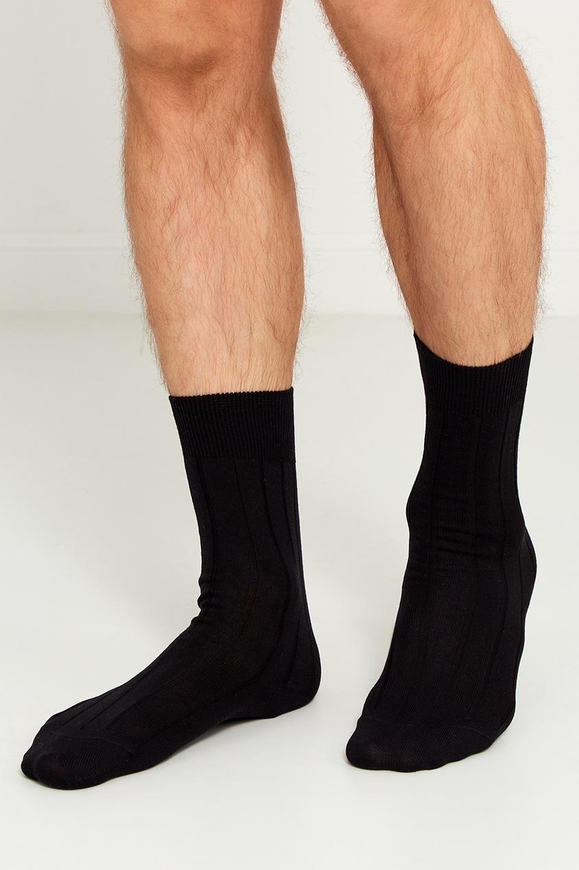 Artioli Черные носки из хлопка носки banana republic banana republic ba067fmrbo04