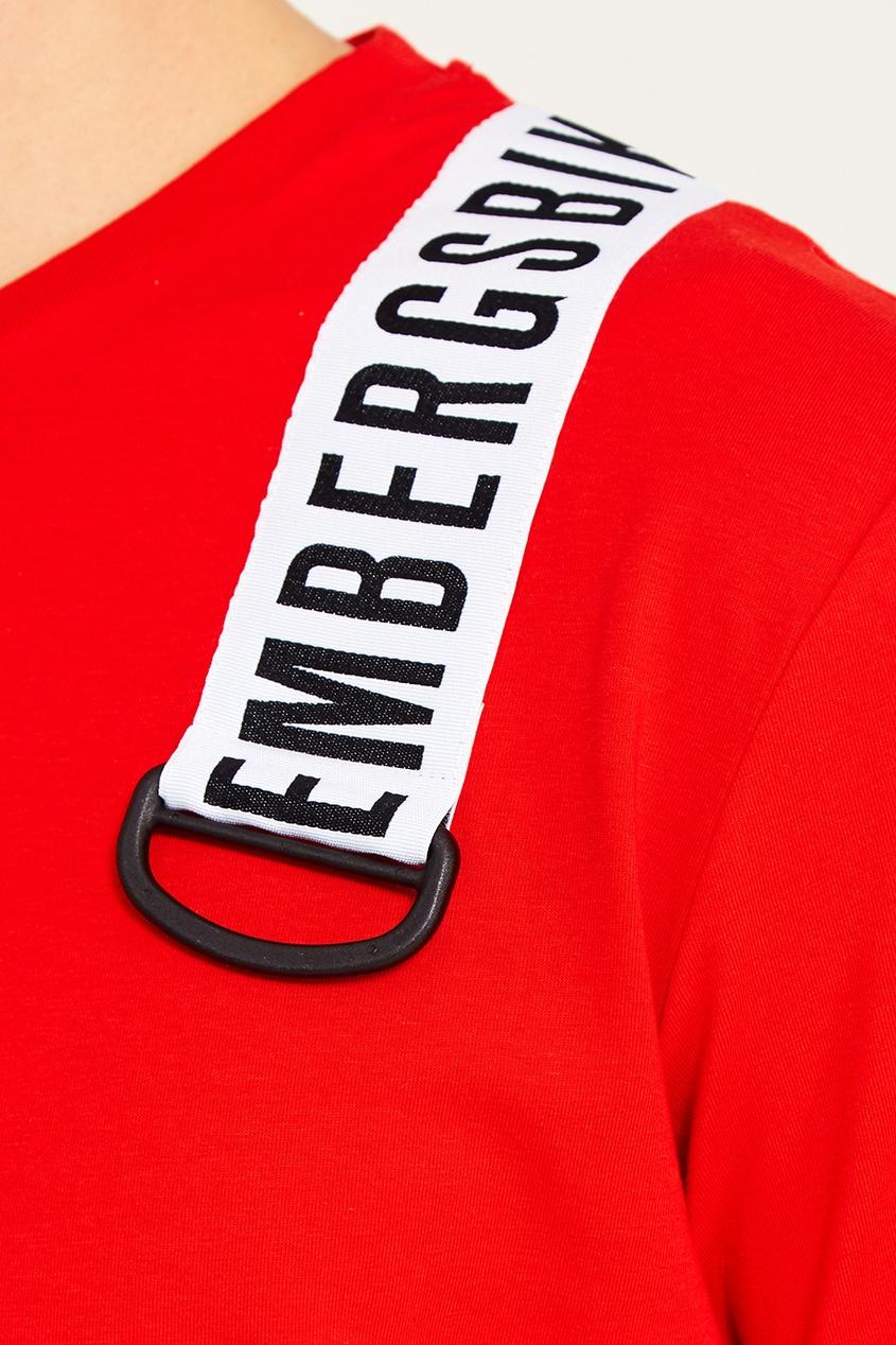 Dirk Bikkembergs Красная футболка с лентой