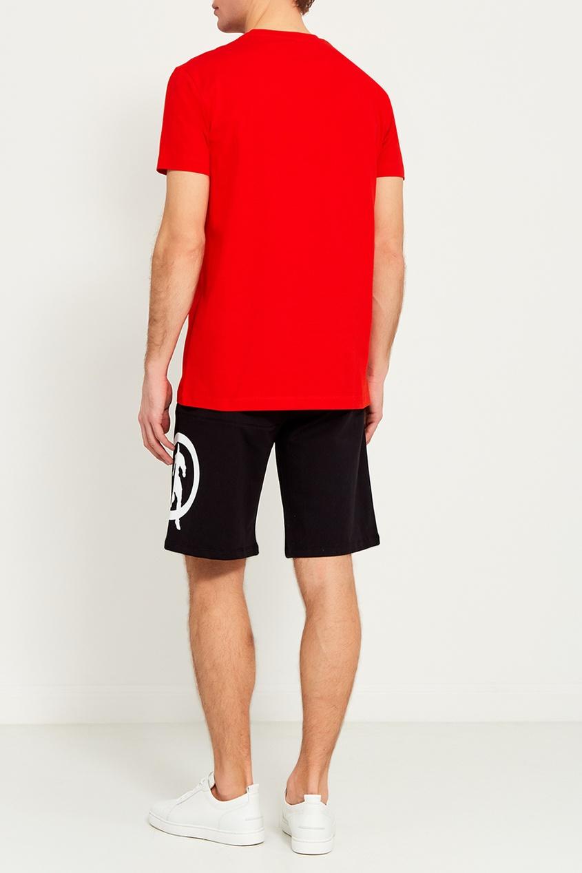 Dirk Bikkembergs Красная футболка с логотипом