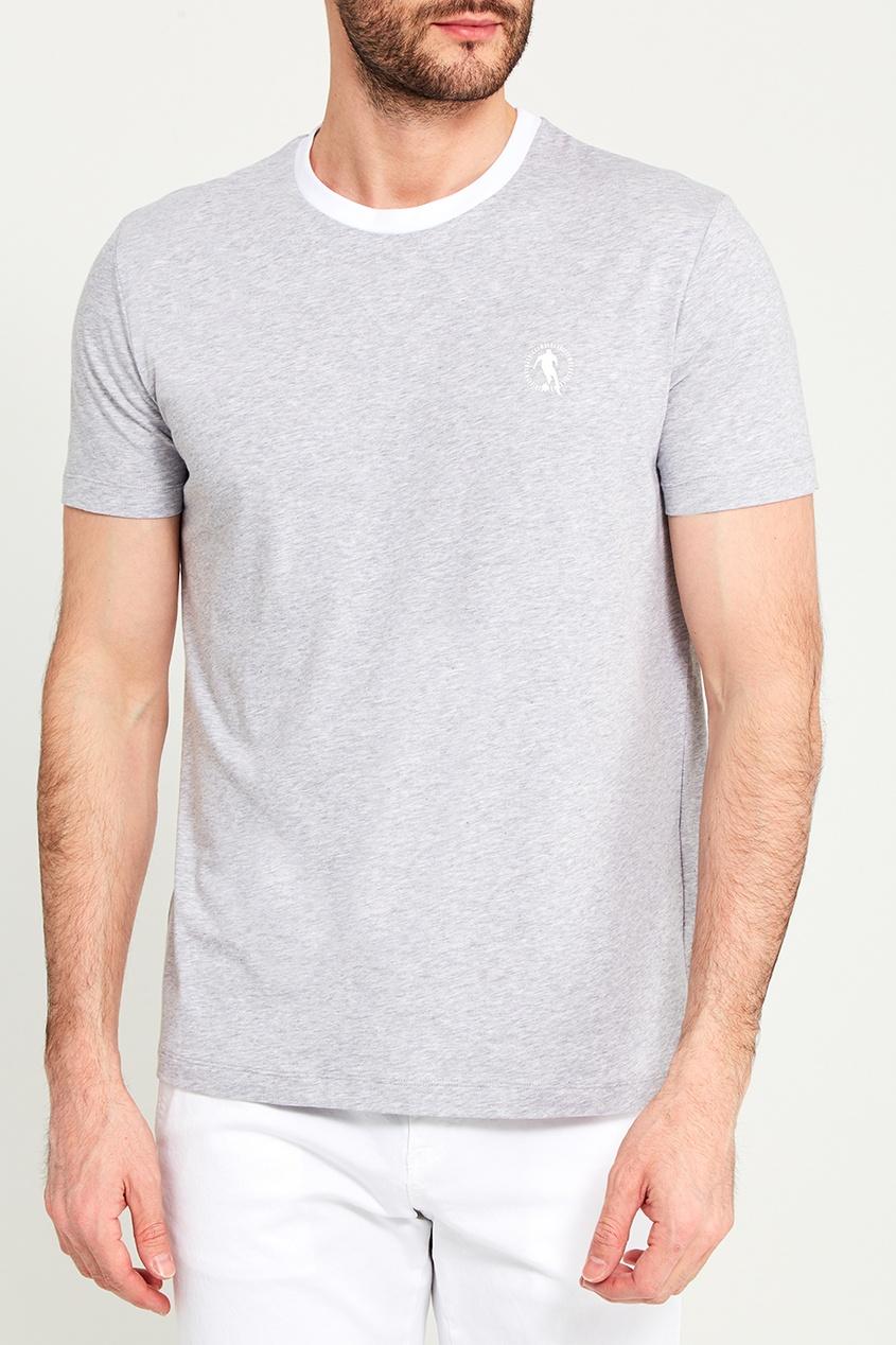 Dirk Bikkembergs Серая футболка с кантом