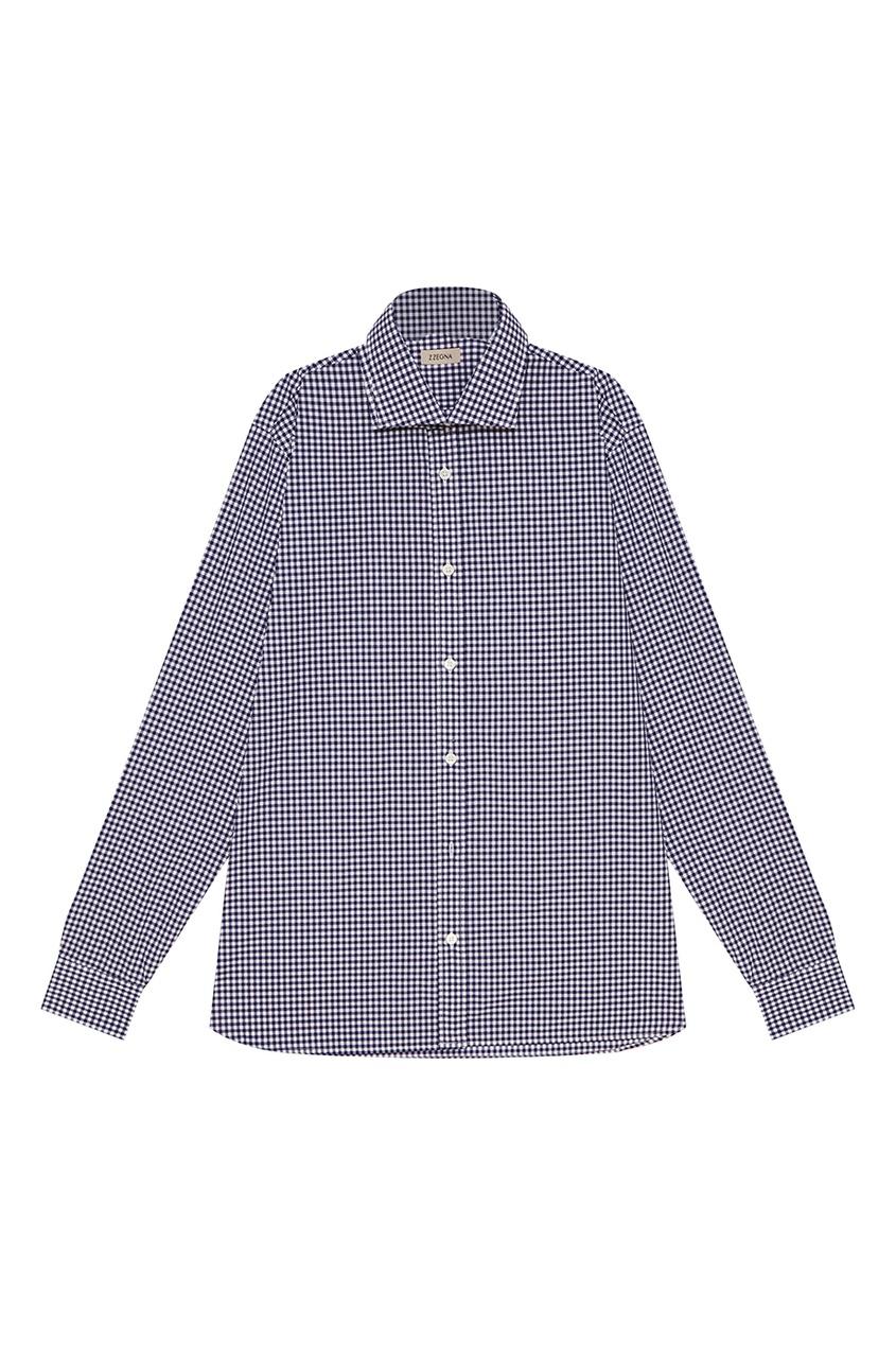 Z Zegna Хлопковая рубашка в клетку рубашка в клетку insight liberty pit blue