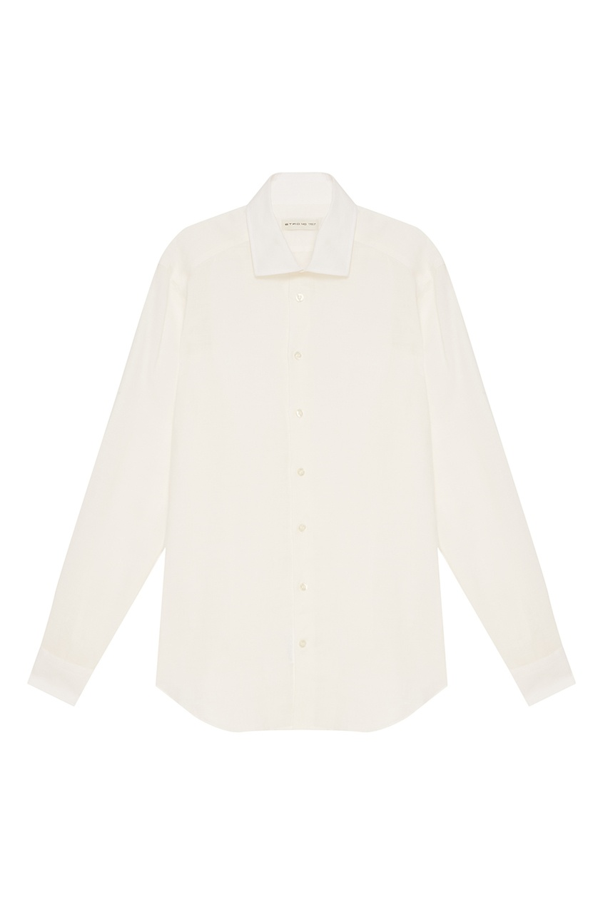 Etro Белая сорочка из рами etro хлопковая сорочка в голубую клетку