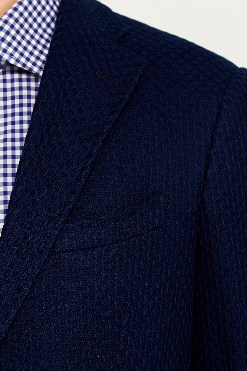 Etro Синий хлопковый пиджак пиджак quelle class international 886435