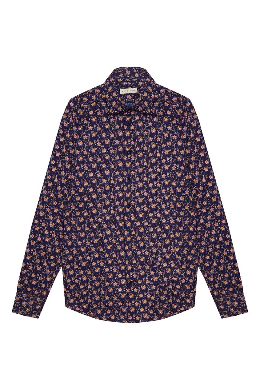Etro Хлопковая рубашка с цветочным принтом etro хлопковая футболка с принтом