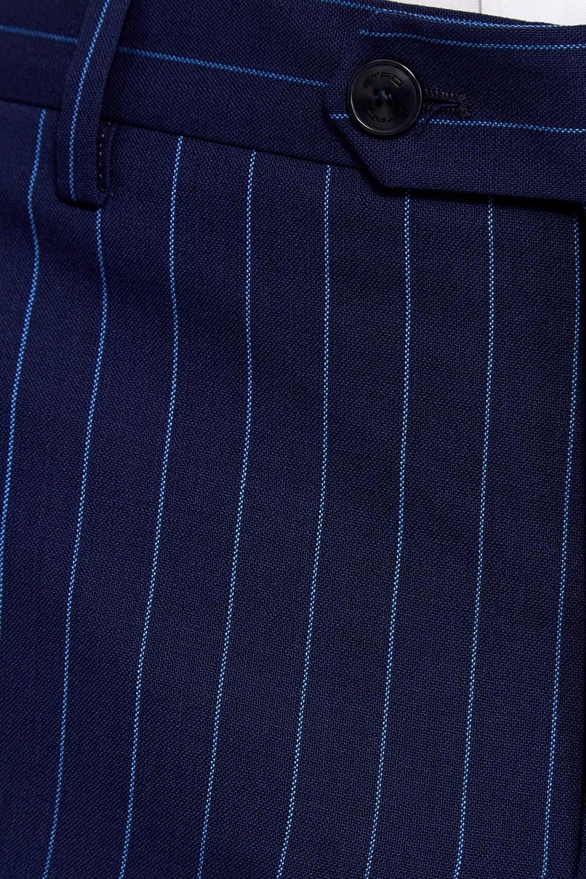 Etro Синий шерстяной костюм-двойка