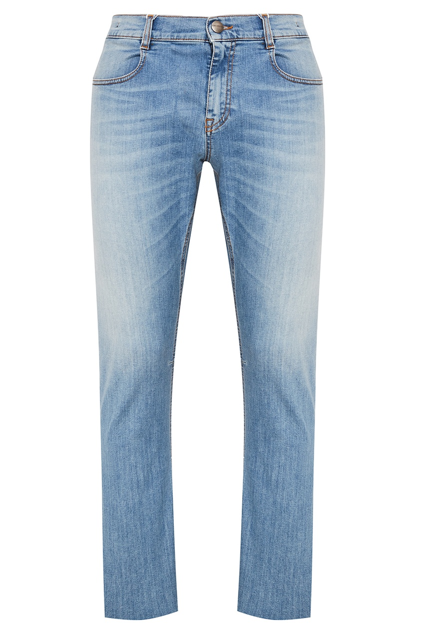 Dirk Bikkembergs Голубые выбеленные джинсы джинсы bikkembergs bikkembergs bi535emqav39