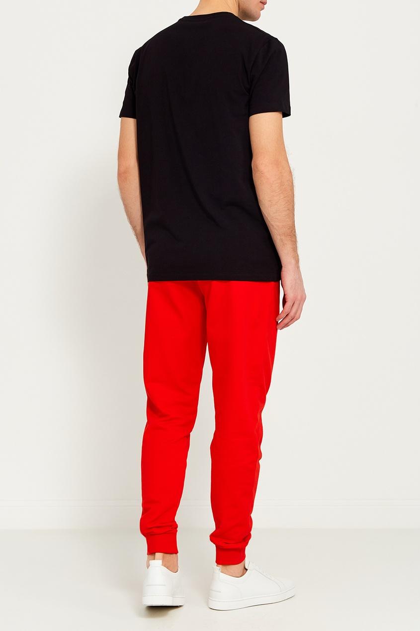 мужские брюки dirk bikkembergs, красные