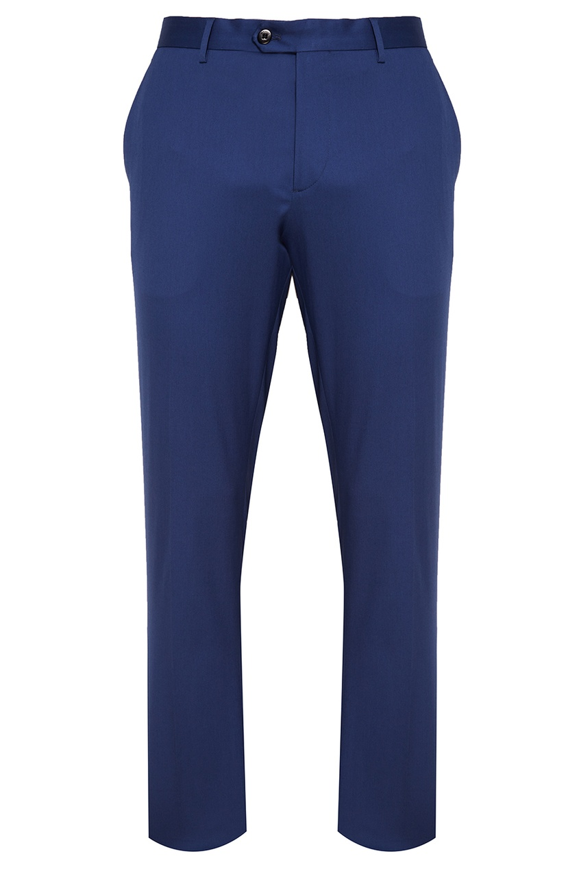 Etro Синие хлопковые брюки etro шелковые брюки