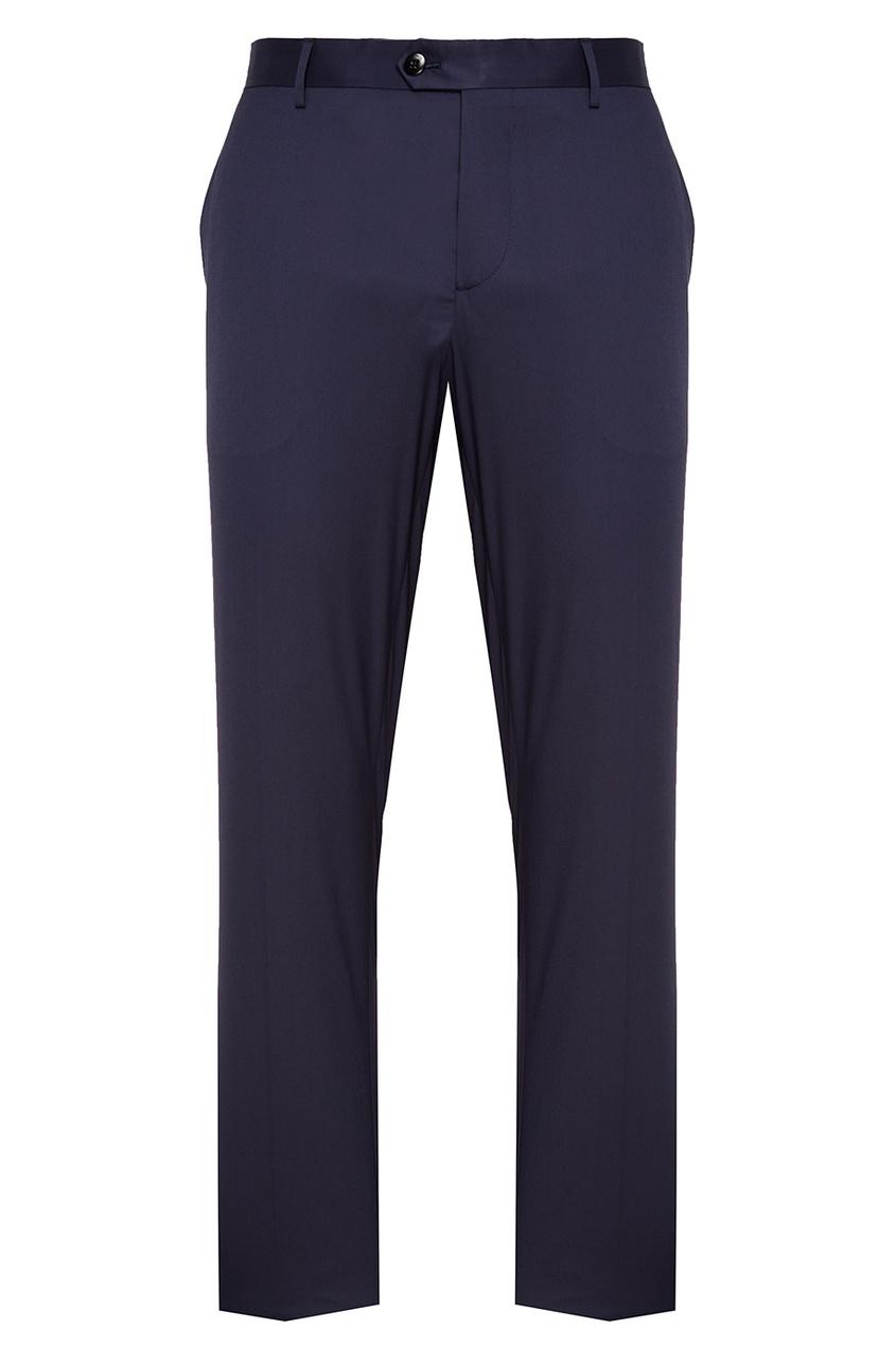 Etro Синие классические брюки