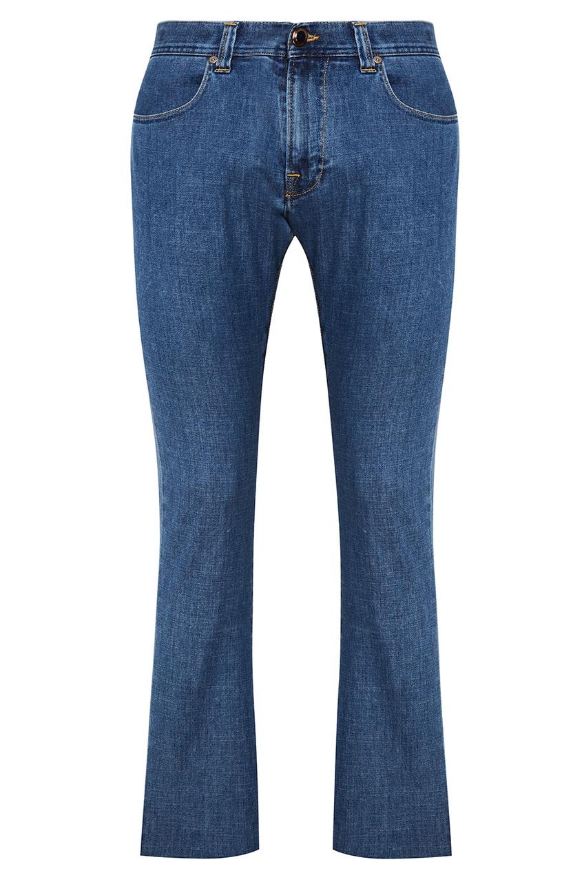 Etro Прямые синие джинсы etro синие хлопковые брюки