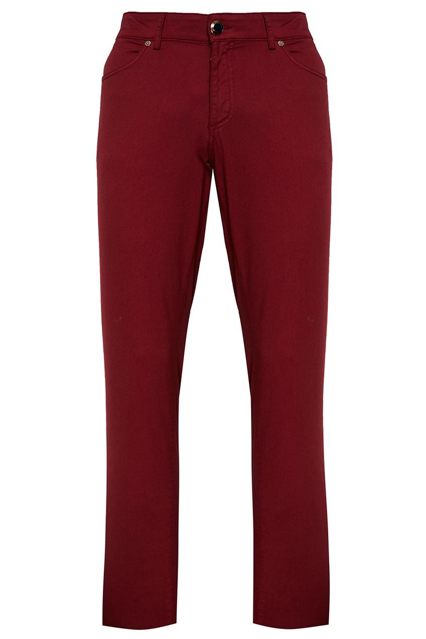 Etro Бордовые брюки из хлопка