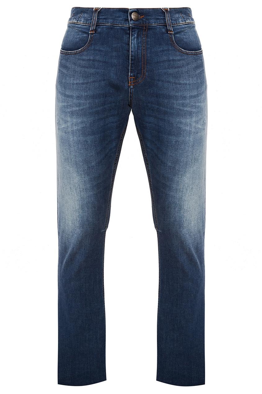 Dirk Bikkembergs Прямые синие джинсы с потертостями джинсы bikkembergs bikkembergs bi535emqav39