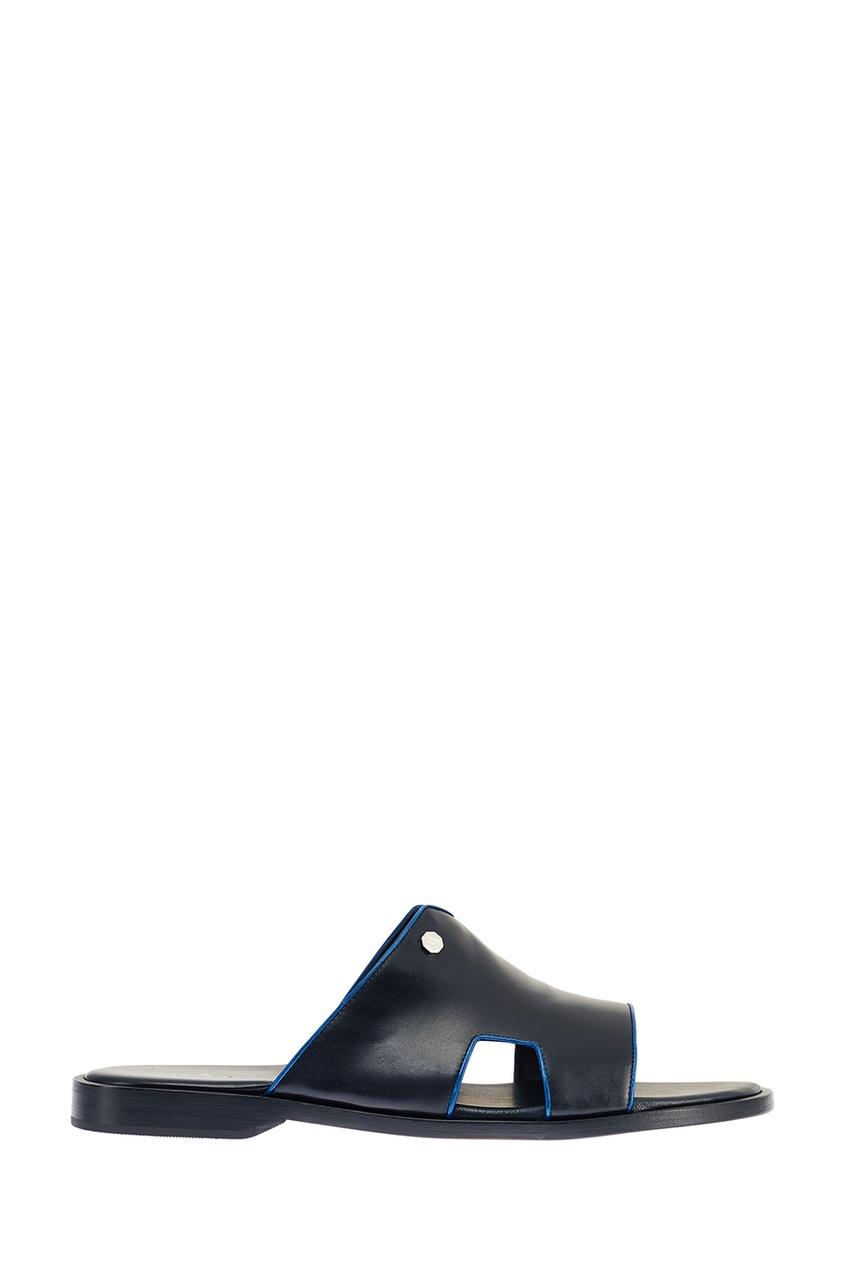 Artioli Синие кожаные сандалии шарф corneliani серый