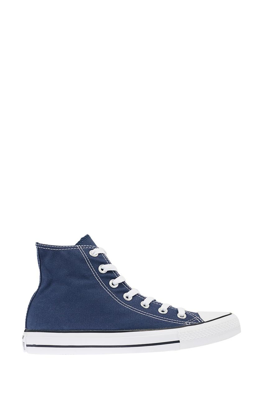 Высокие синие кеды из текстиля от Converse
