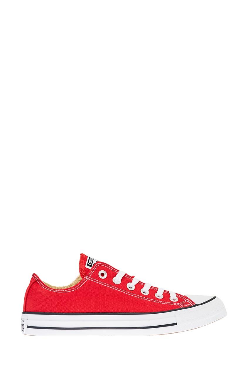 Красные текстильные кеды от Converse