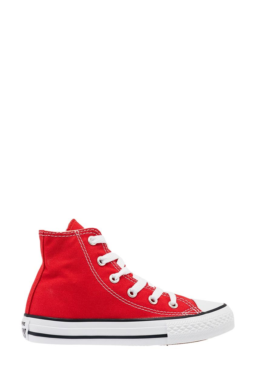 Converse Высокие красные кеды из текстиля
