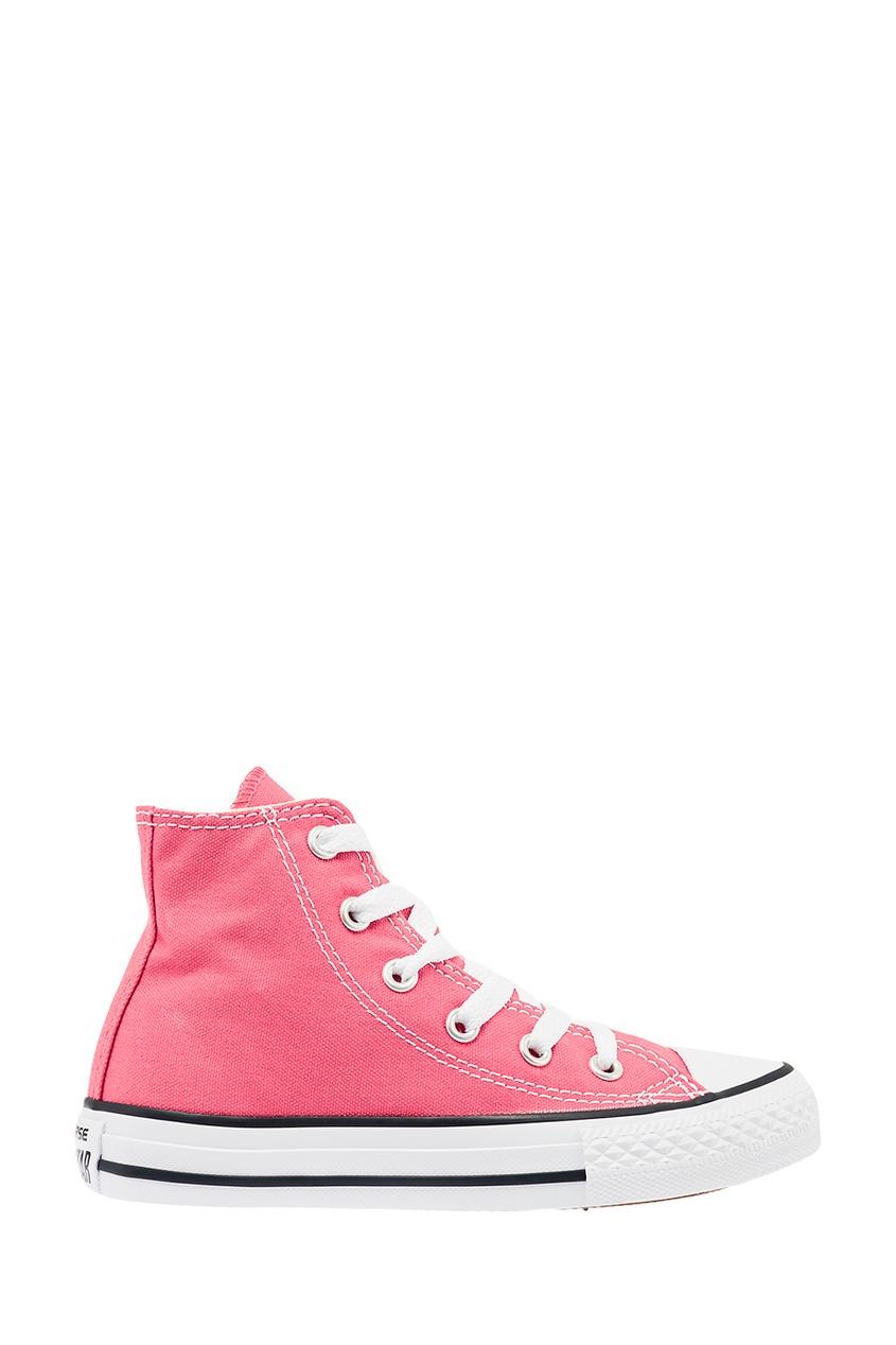 Converse Розовы высокие кеды из текстиля