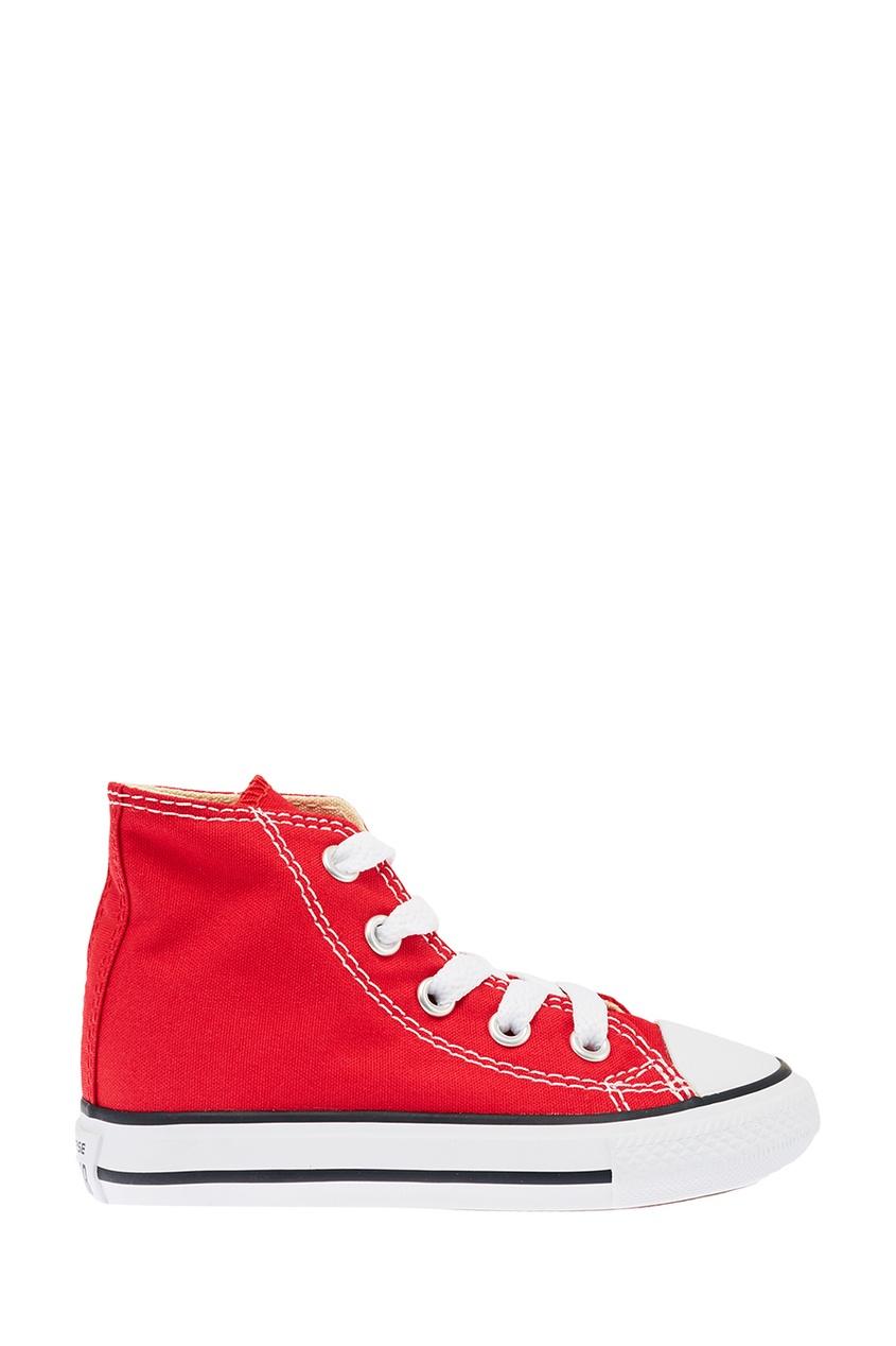 Converse Красные высокие кеды из текстиля