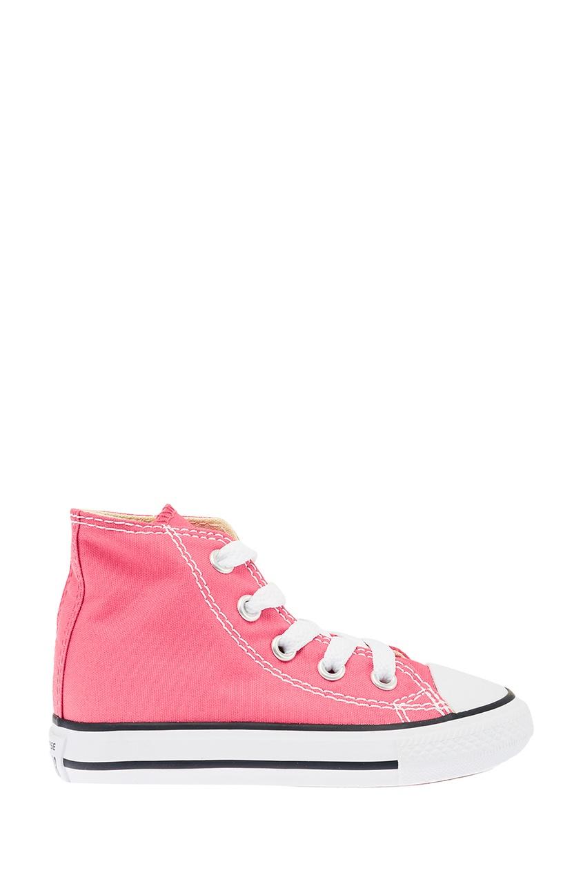 Converse Высокие розовые кеды из текстиля