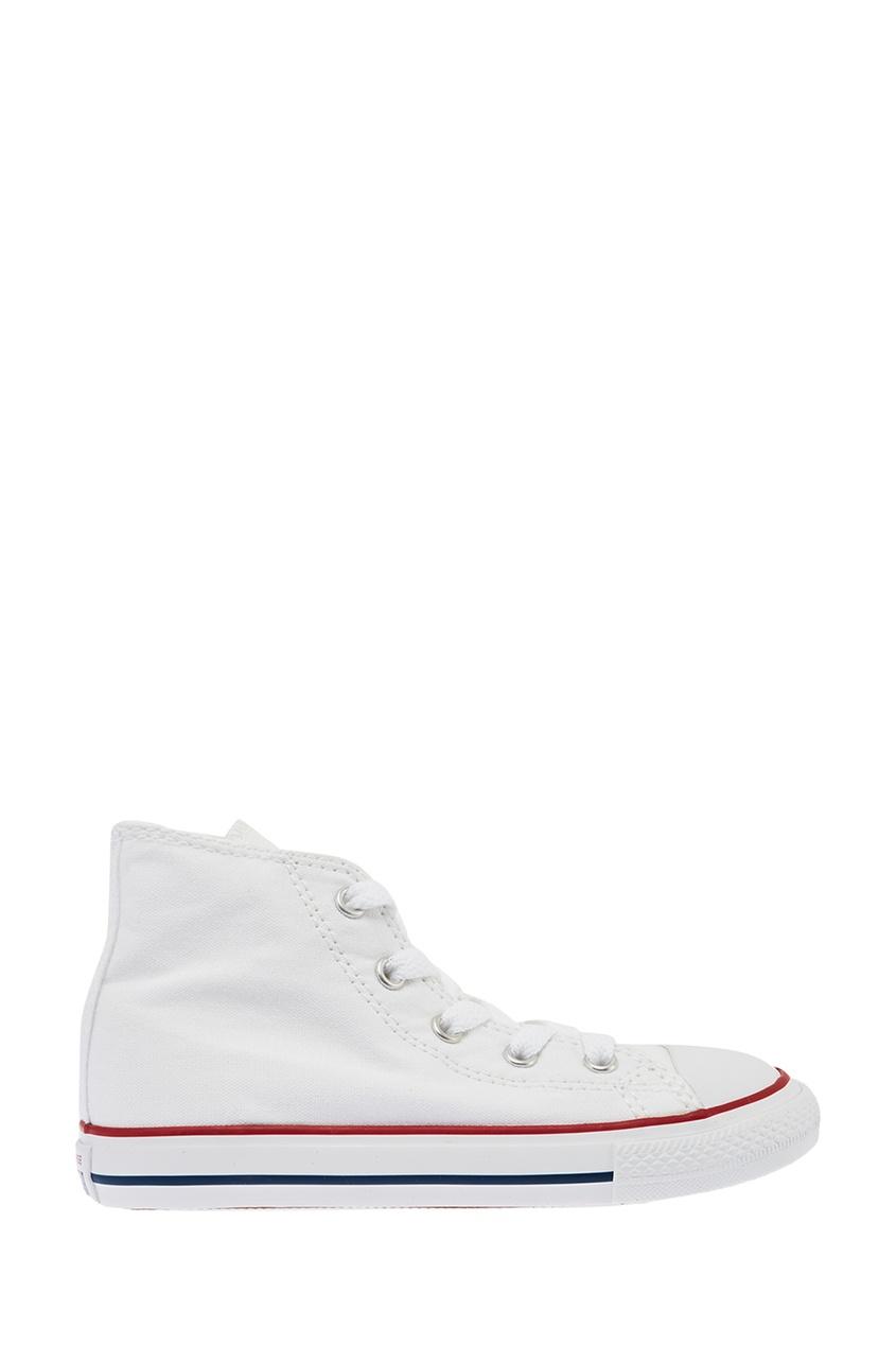 Converse Белые высокие кеды из текстиля