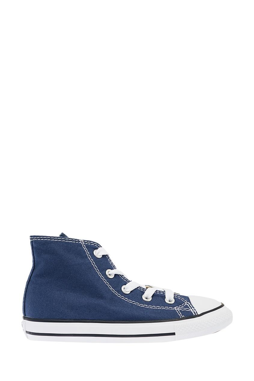 Converse Синие высокие кеды из текстиля