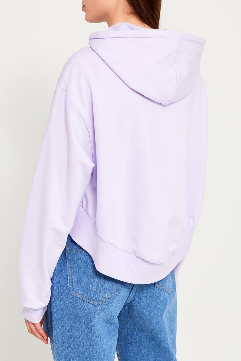 Фиолетовое худи из хлопка