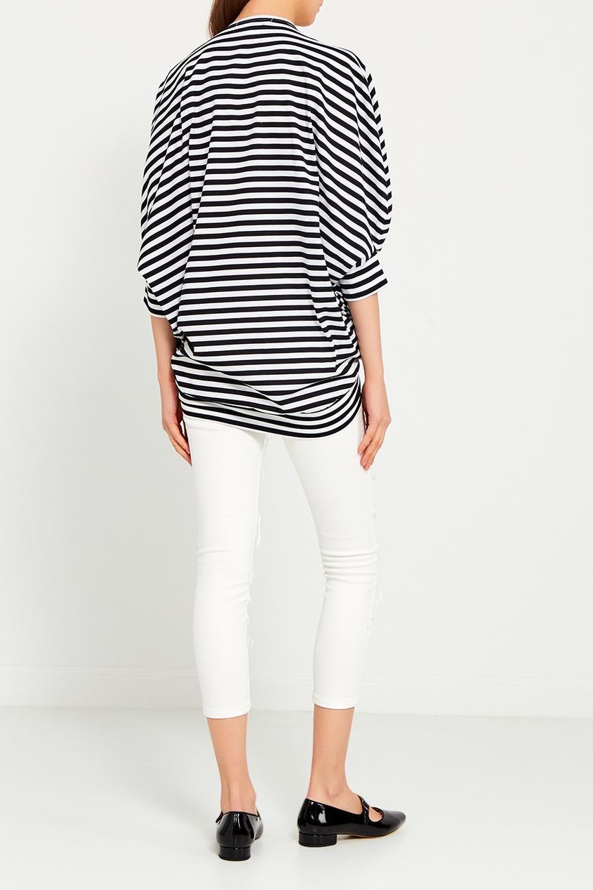 Junya Watanabe Белые джинсы с прорезями