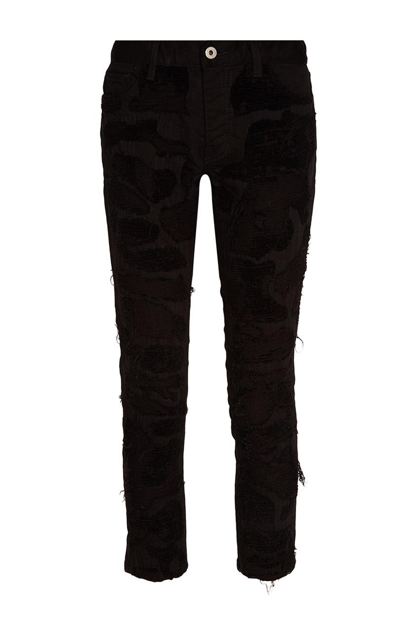 Junya Watanabe Черные джинсы с прорезями