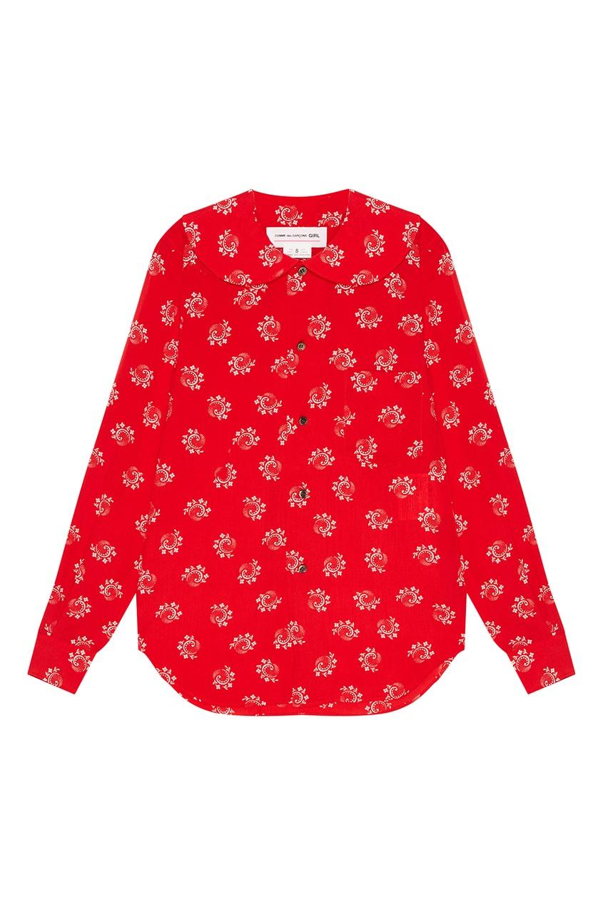Comme Des Garcons Girl Красная блузка с принтом comme des garcons comme des garsons
