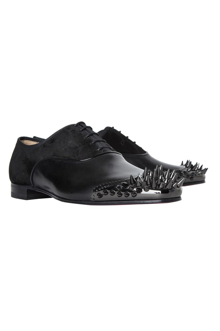 Кожаные туфли Tyronito Flat Calf Brosse/Veau Velours