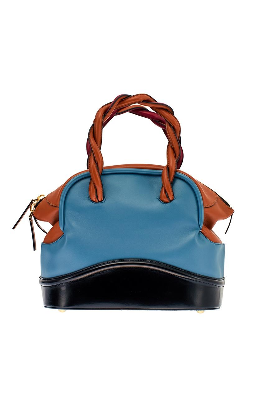 Комбинированная сумка из кожи