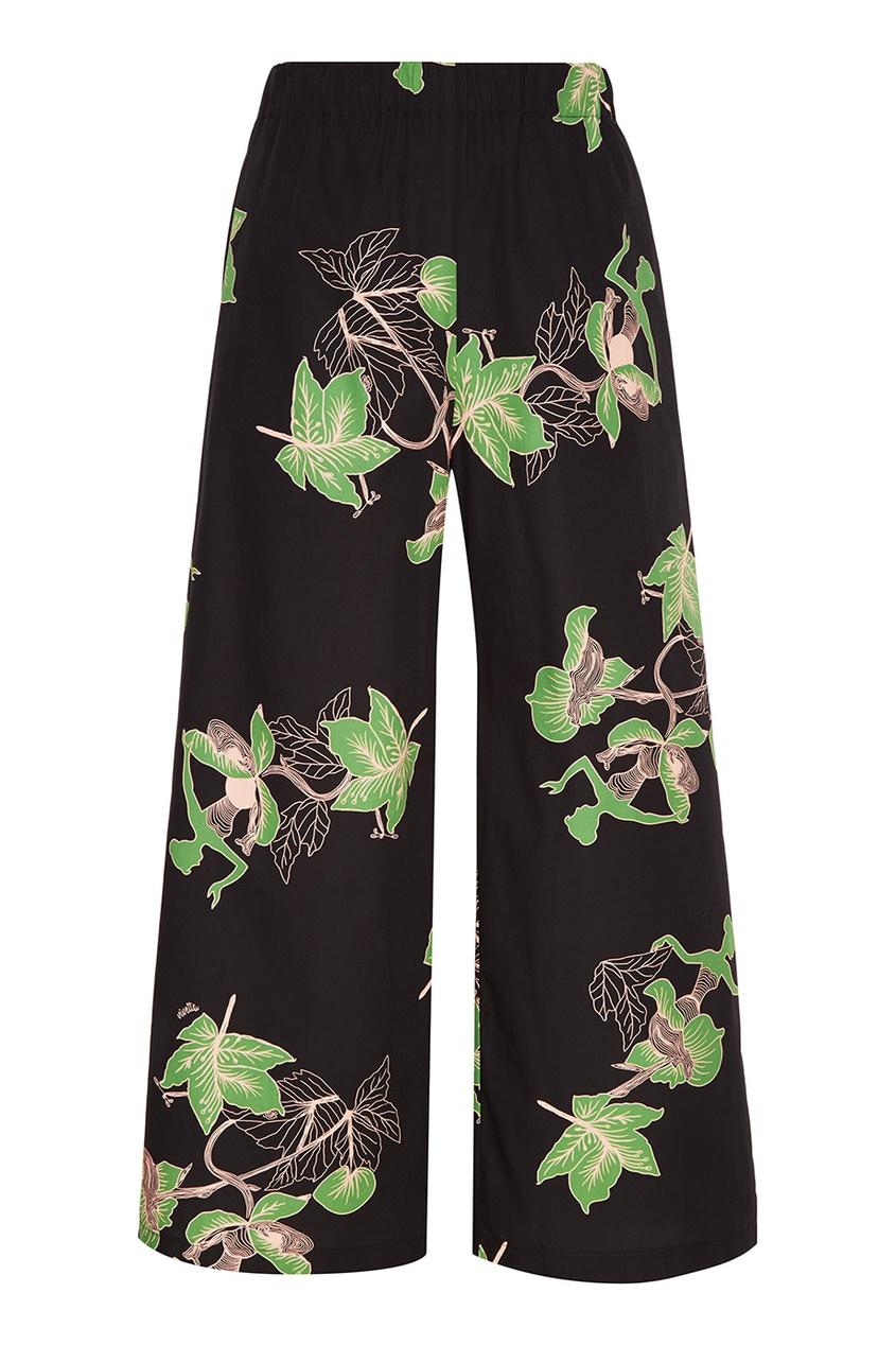 Vivetta Хлопковые брюки с принтом vivetta бархатное платье с нашивками