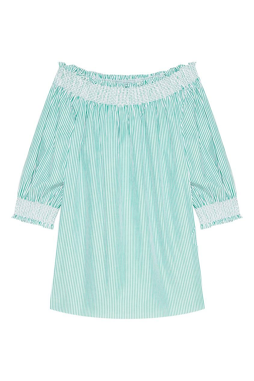 Vivetta Зеленая блузка в полоску котмаркот зеленая в полоску